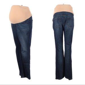 LOFT Maternity Jeans Dark Wash Straight Stretch 14